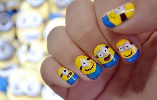 25 Awesome Minion Nail Art Designs Ideas Trends Stickers 2015 21 25+ Awesome Minion Nail Art Designs, Ideas, Trends & Stickers 2015