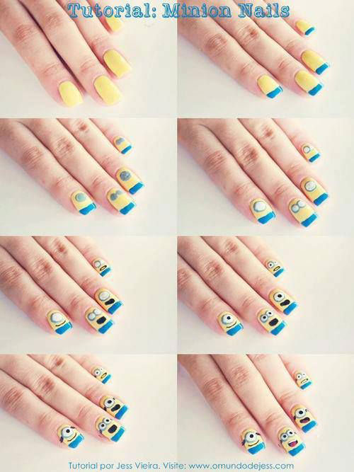 10 Easy Step By Step Minion Nail Art Tutorials For Beginners Learners 2015 8 10 Easy Step by Step Minion Nail Art Tutorials For Beginners & Learners 2015