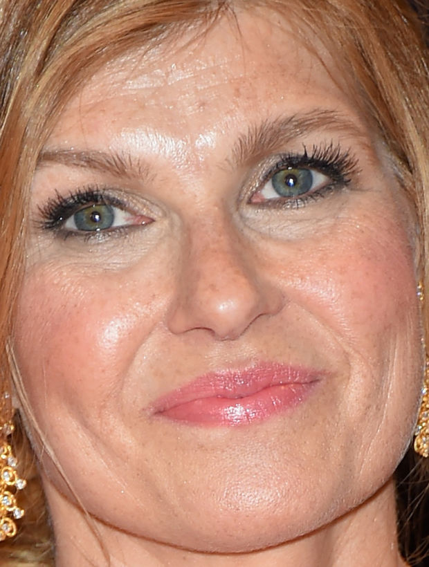 Close-up of Connie Britton at the 2015 White House Correspondents' Dinner.