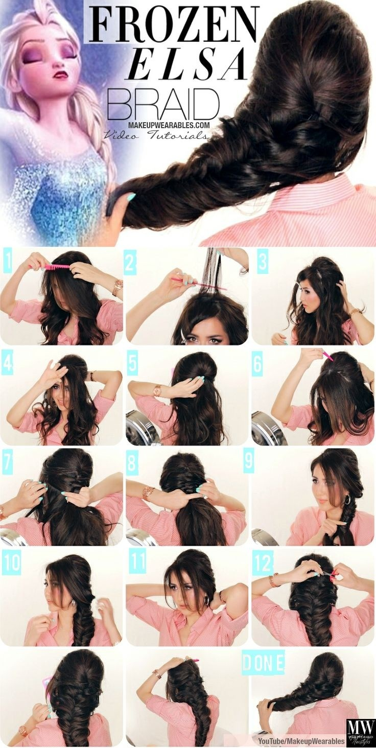 Frozen Braided Hairstyle Tutorial