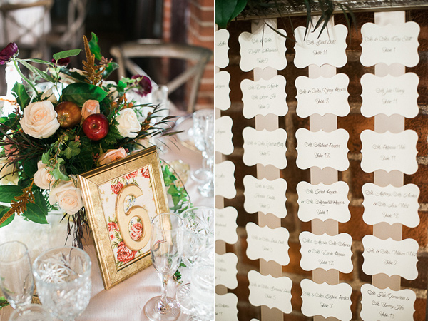 escort cards - photo by Brandi Welles Photographer http://ruffledblog.com/sheer-romance-wedding-at-carondelet-house