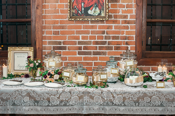 dessert bar - photo by Brandi Welles Photographer http://ruffledblog.com/sheer-romance-wedding-at-carondelet-house