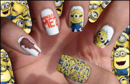 25 Awesome Minion Nail Art Designs Ideas Trends Stickers 2015 24 25+ Awesome Minion Nail Art Designs, Ideas, Trends & Stickers 2015