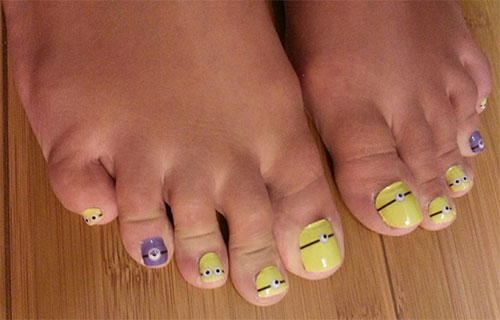 Minion Toe Nail Art Designs Ideas Trends Stickers 2015 3 Minion Toe Nail Art Designs, Ideas, Trends & Stickers 2015