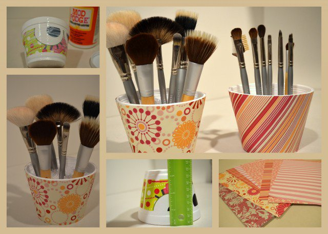 Painted Brush Holder