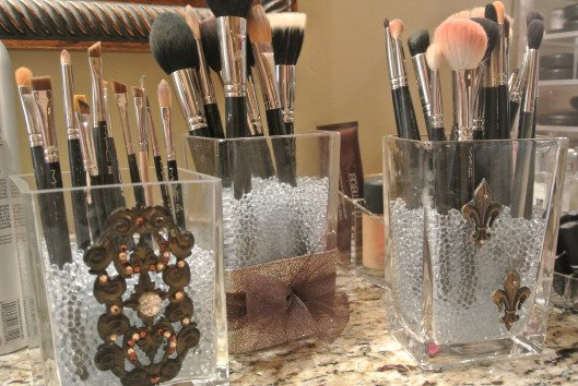 Crystal Brush Holder