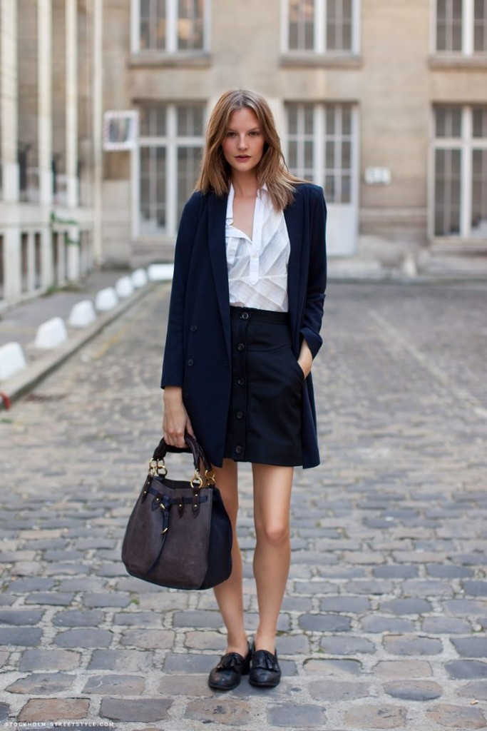 button front skirt and trench