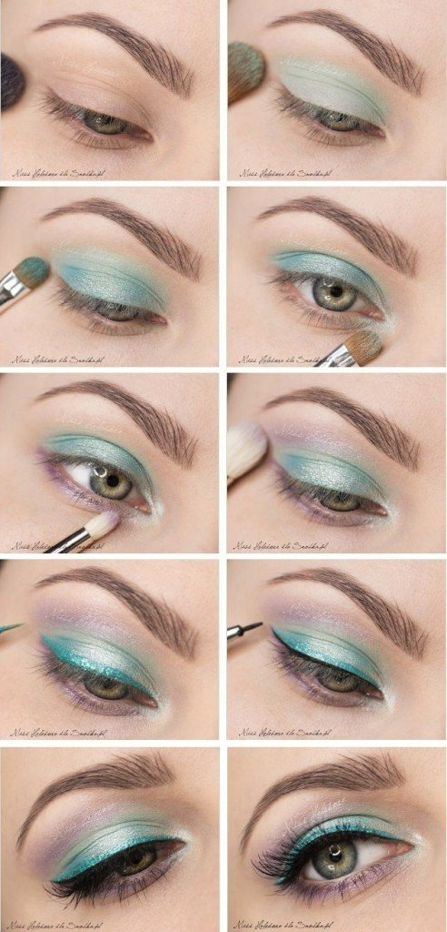 Pale Green Eye Makeup