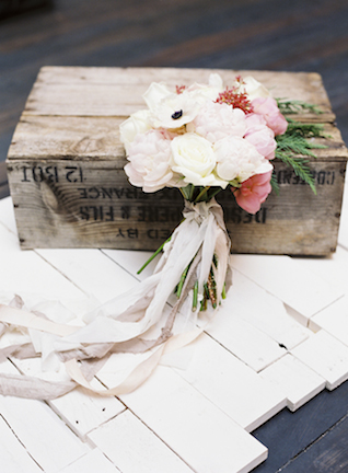 Peony and anemone bridal bouquet | Loblee Photography | see more on: http://burnettsboards.com/2015/04/feminine-rustic-botanical-wedding/