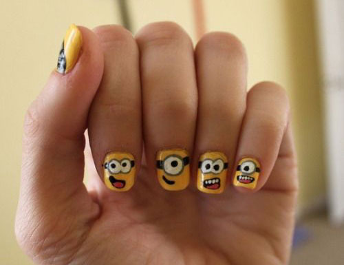 25 Awesome Minion Nail Art Designs Ideas Trends Stickers 2015 13 25+ Awesome Minion Nail Art Designs, Ideas, Trends & Stickers 2015