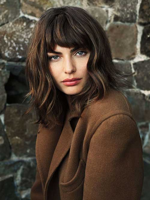 Thick Bangs for Women Short Hair
