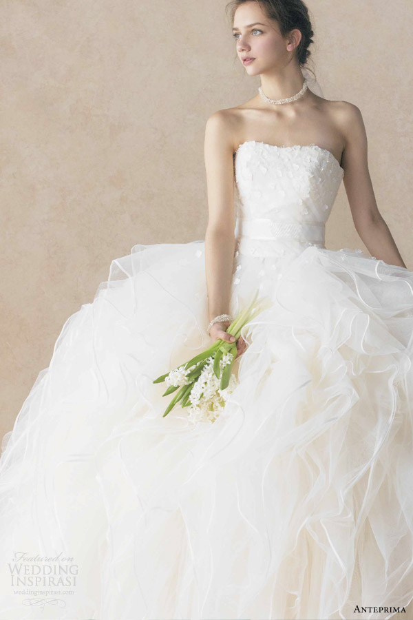 anteprima bridal strapless ball gown wedding dress off white ant0066