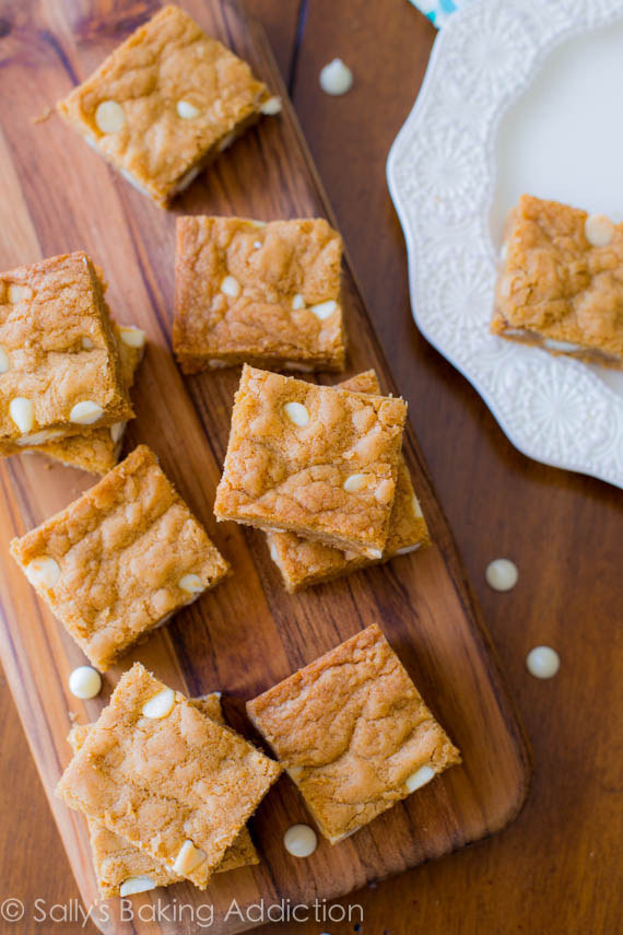 Biscoff White Chocolate Blondies