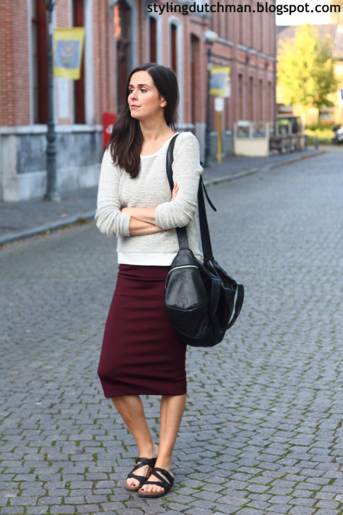 birkenstock and long skirt