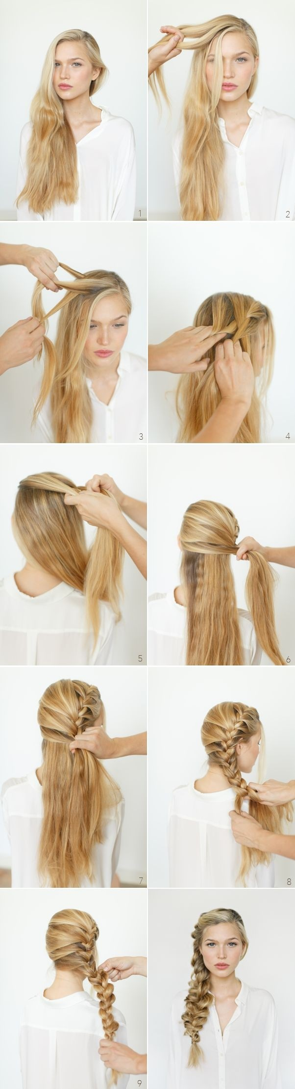 Side Braided Hairstyle for Long Hair