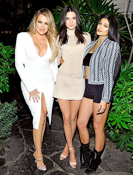 Khloe Kardashian, Kendall Jenner, and Kylie Jenner attend Opening Ceremony and Calvin Klein Jeans' celebration launch of the #mycalvins Denim Series with special guest Kendall Jenner at Chateau Marmont on April 23 in Los Angeles.