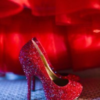 Red Wedding Shoes by Benjamin Adams