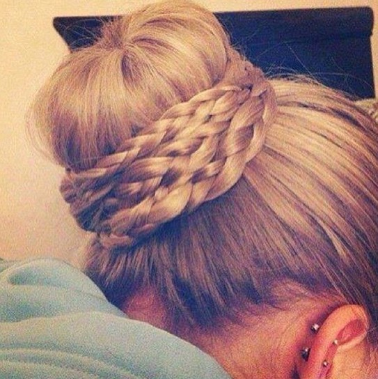 Braided Bun Hairstyle for Prom