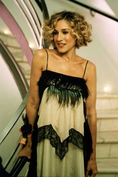 Carrie Bradshaw's Curly Bob Hair