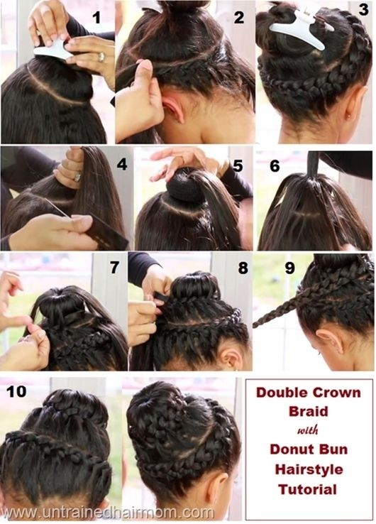 Double Braided Donut Bun Hairstyle Tutorial
