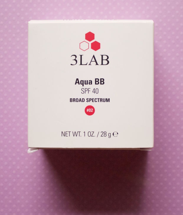 The outer packaging of 3LAB's Aqua BB.