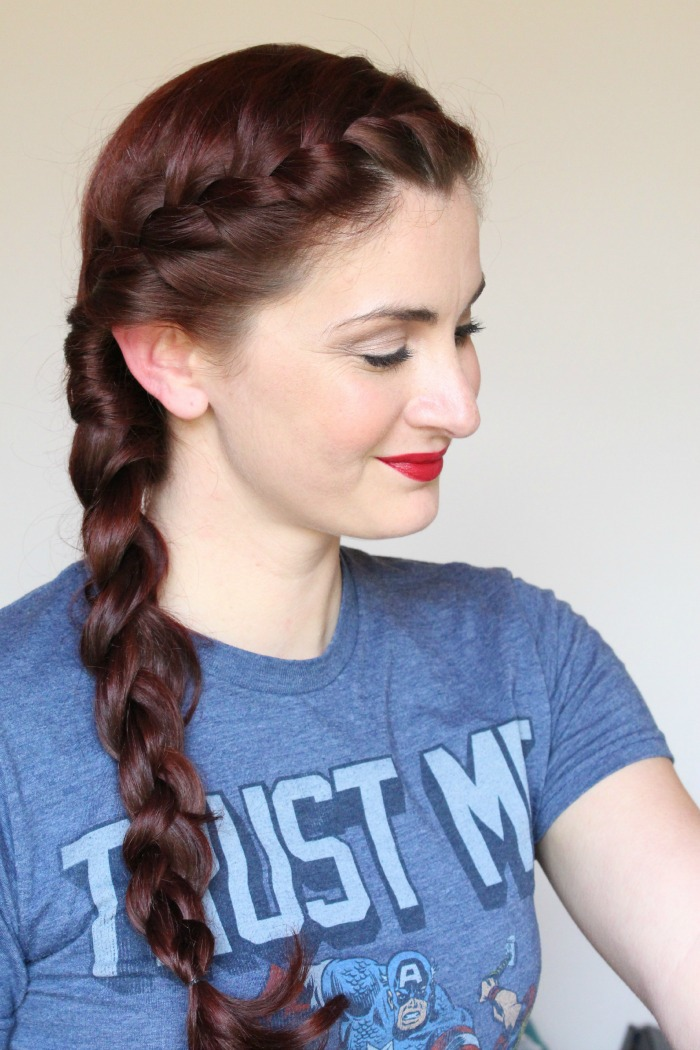 Simple French braid for long hair