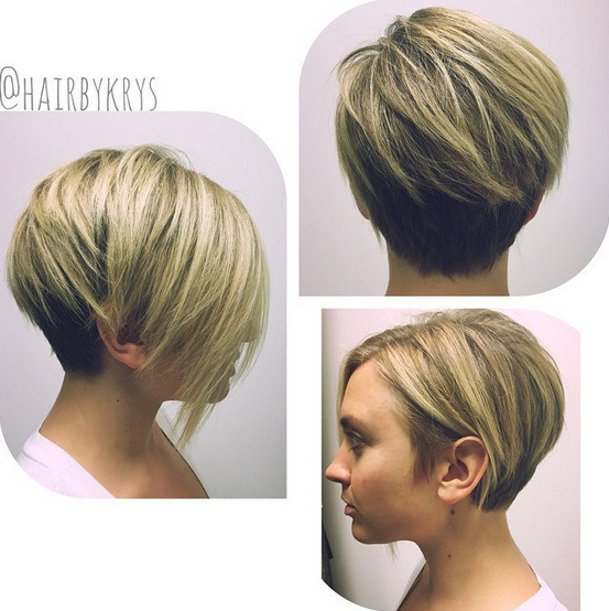 Short Haircut for Heart or Round Face Shape