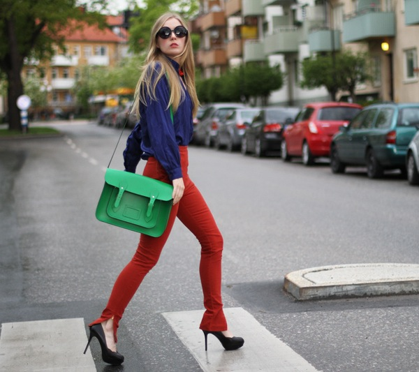 color-block outfit