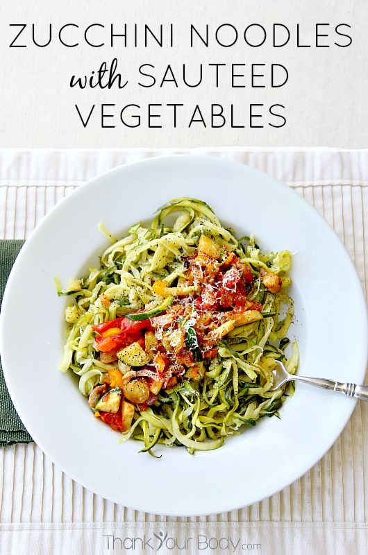 Zucchini Noodles with Sauteed Vegetable