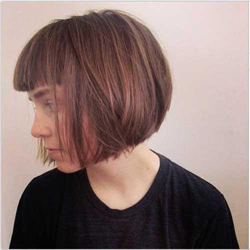 Best Short Layered Bob Haircuts with Bangs