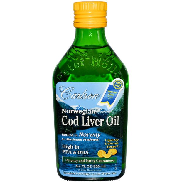 The non-fermented Carlson Cod Liver Oil.