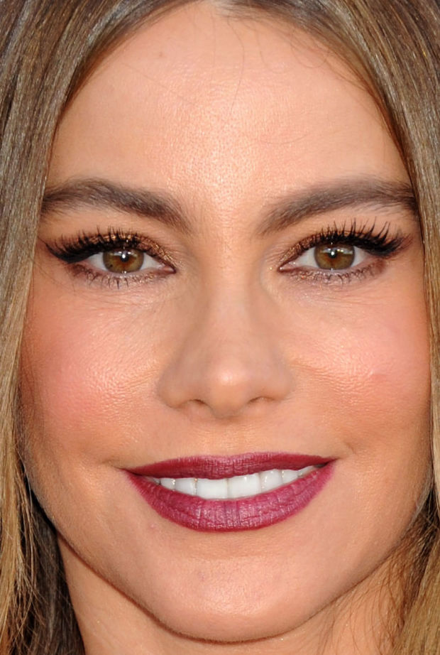 Close-up of Sofia Vergara at the 2015 ACM Awards.