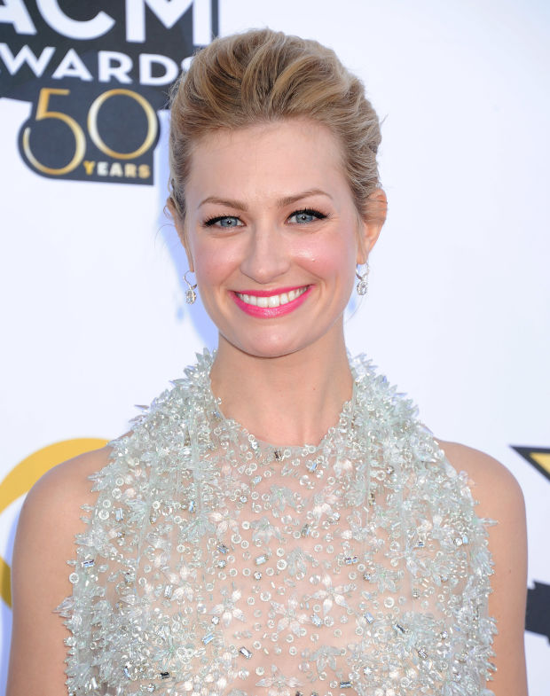 Beth Behrs at the 2015 ACM Awards.