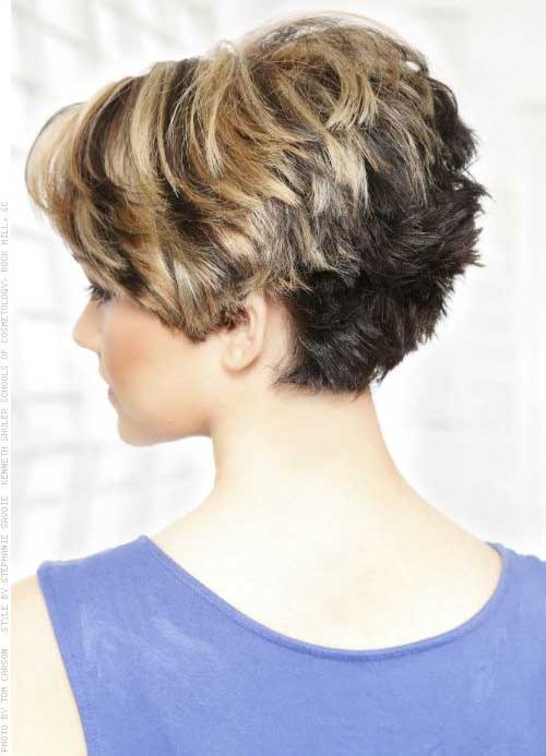 Different Colored Choppy Short Hairstyles