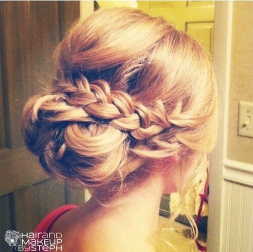 Braided Updo for Bridesmaids Hairstyles