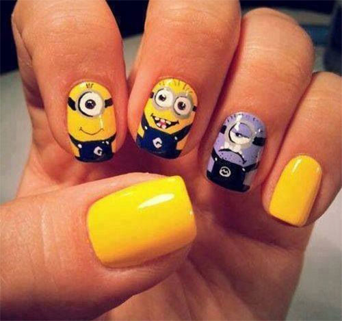 25 Awesome Minion Nail Art Designs Ideas Trends Stickers 2015 11 25+ Awesome Minion Nail Art Designs, Ideas, Trends & Stickers 2015