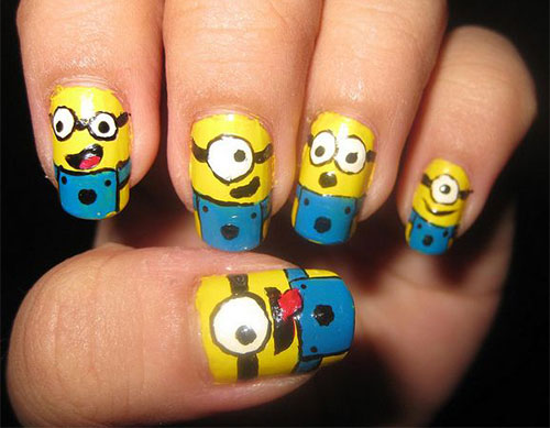 25 Awesome Minion Nail Art Designs Ideas Trends Stickers 2015 12 25+ Awesome Minion Nail Art Designs, Ideas, Trends & Stickers 2015