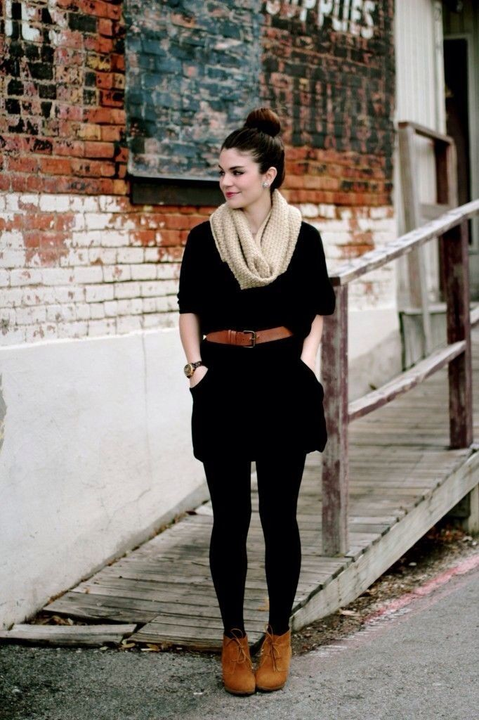 belt tunic leggings