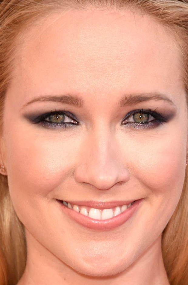 Close-up of Anna Camp at the 2015 iHeartRadio Music Awards.