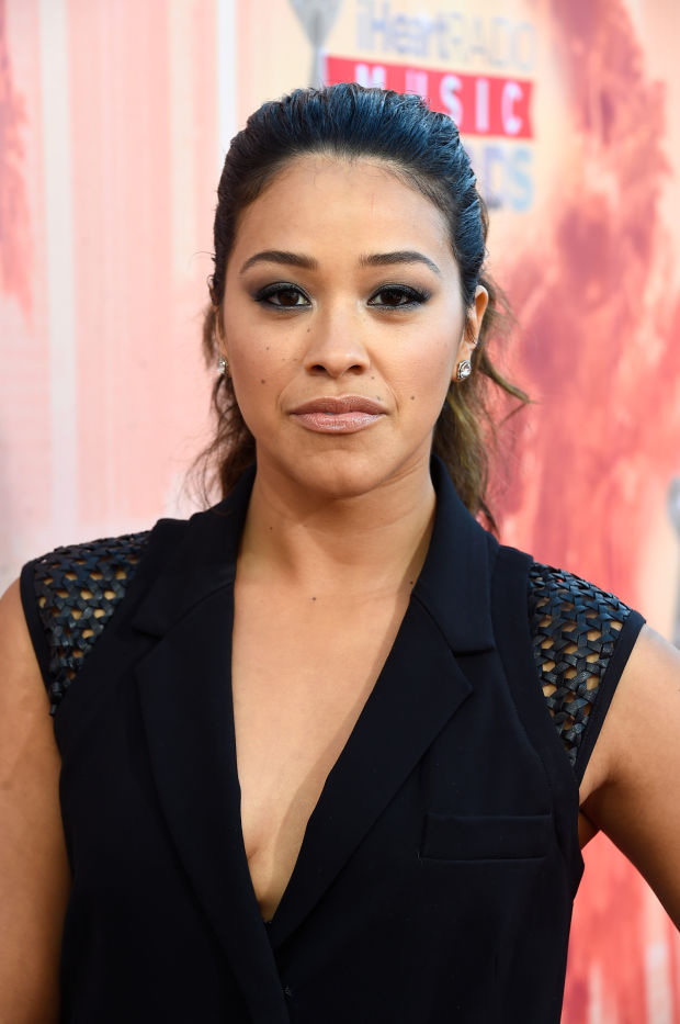 Gina Rodriguez at the 2015 iHeartRadio Music Awards.