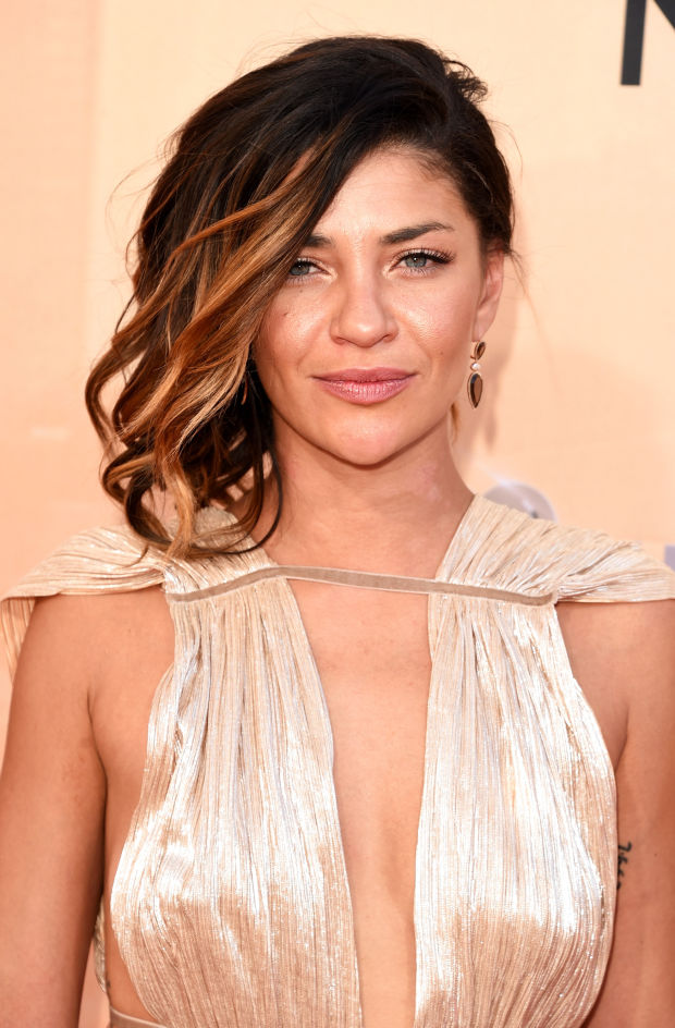 Jessica Szohr at the 2015 iHeartRadio Music Awards.