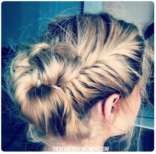 French Fishtail Braided Updo for Everyday Hairstyles