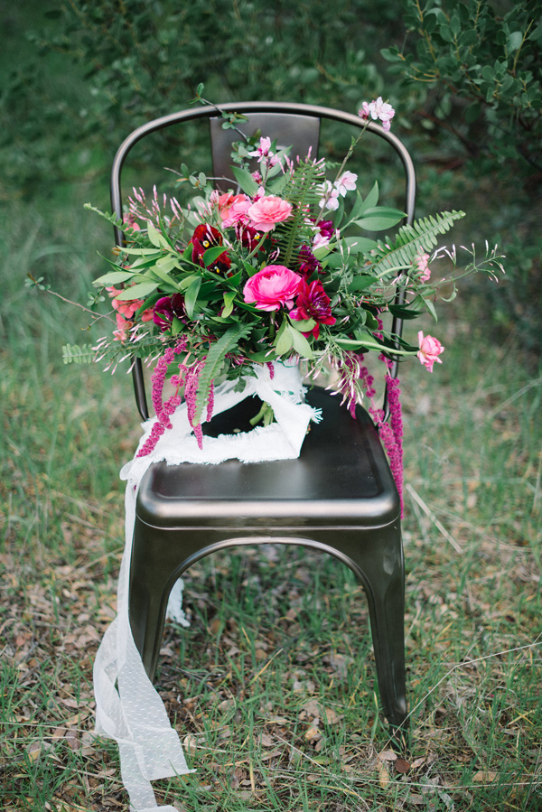 spring bouquet - photo by Shannon Rosan Photography http://ruffledblog.com/eco-friendly-california-wedding-with-marsala