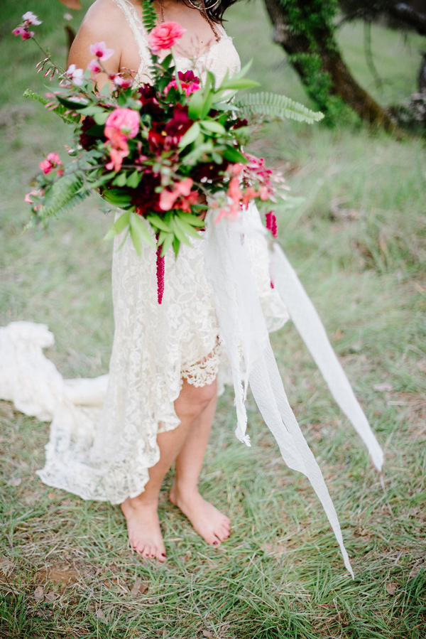 barefoot bride - photo by Shannon Rosan Photography http://ruffledblog.com/eco-friendly-california-wedding-with-marsala