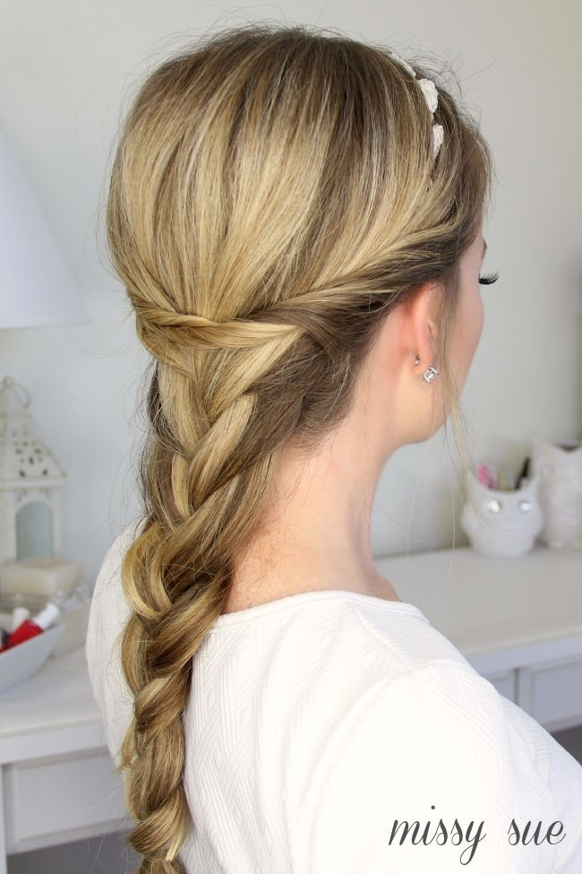 Loose Braid Ponytail with Twists