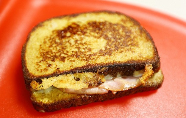 French Toast Ham and Cheese Sandwich