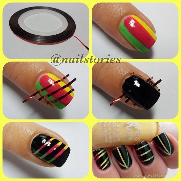 cool-easy-nail-designs-with-tape-art-tutorial