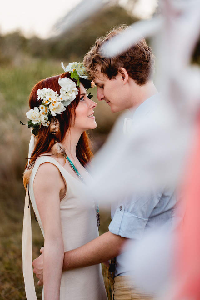 Floral crown | Hilary Cam Photography | see more on: http://burnettsboards.com/2015/04/diy-bohemian-love-tent/