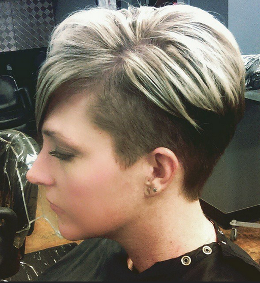 Chic Short Haircut Side View