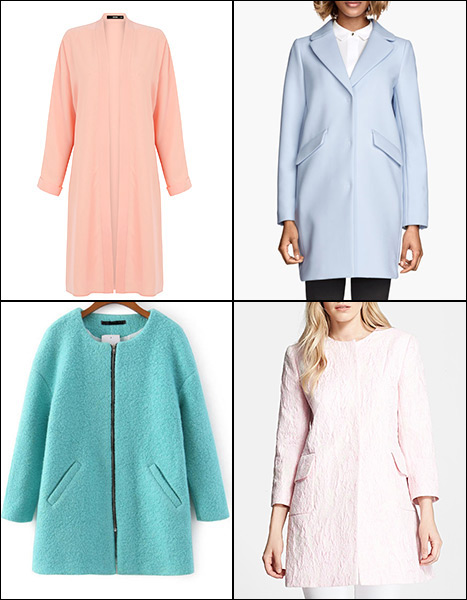 Shop pastel coats for spring 2015, inspired by Kate Middleton and celebs' street style!